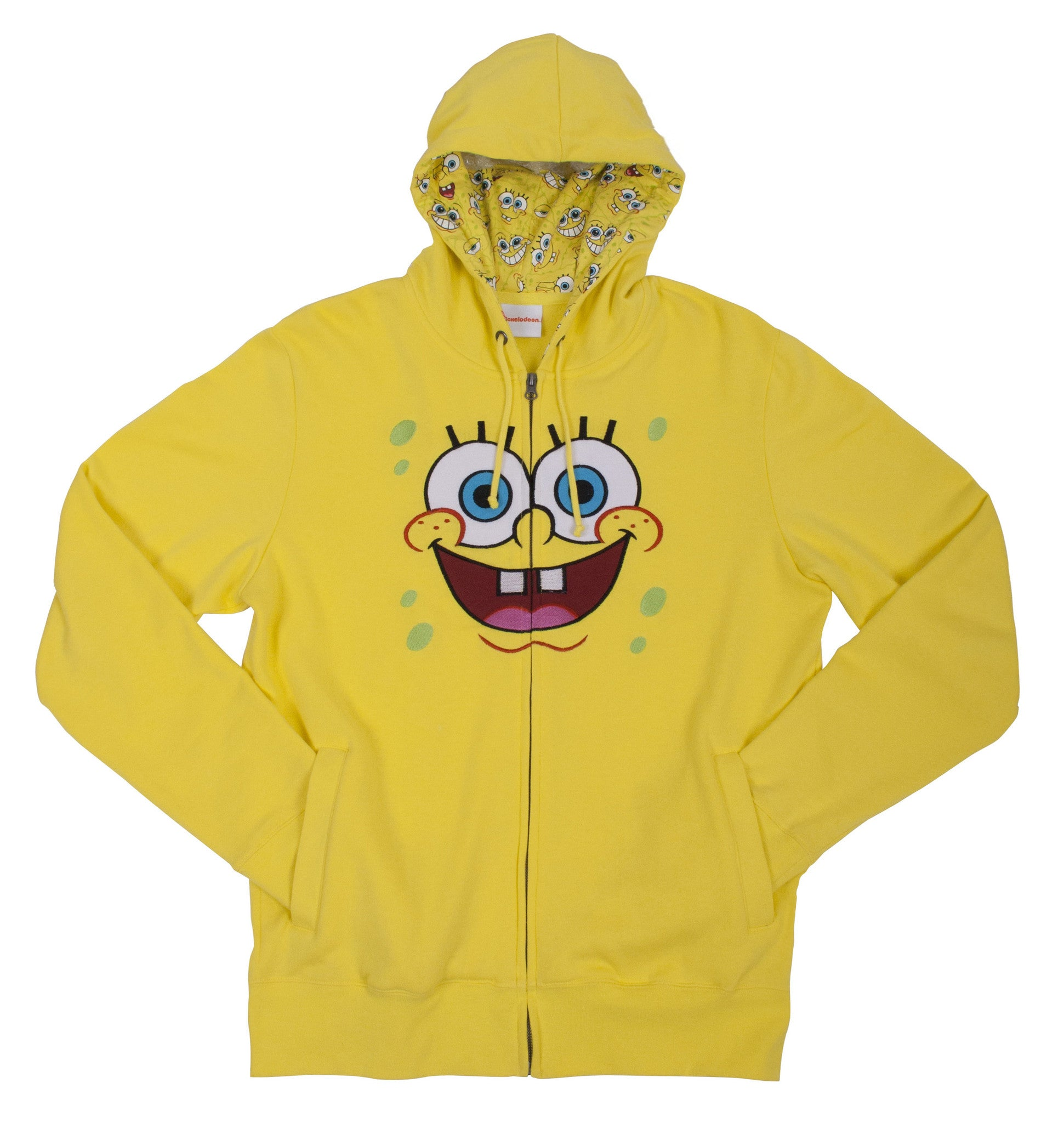 "SpongeBob SquarePants ""Big Face"" Zip up Hoodie - Adult"