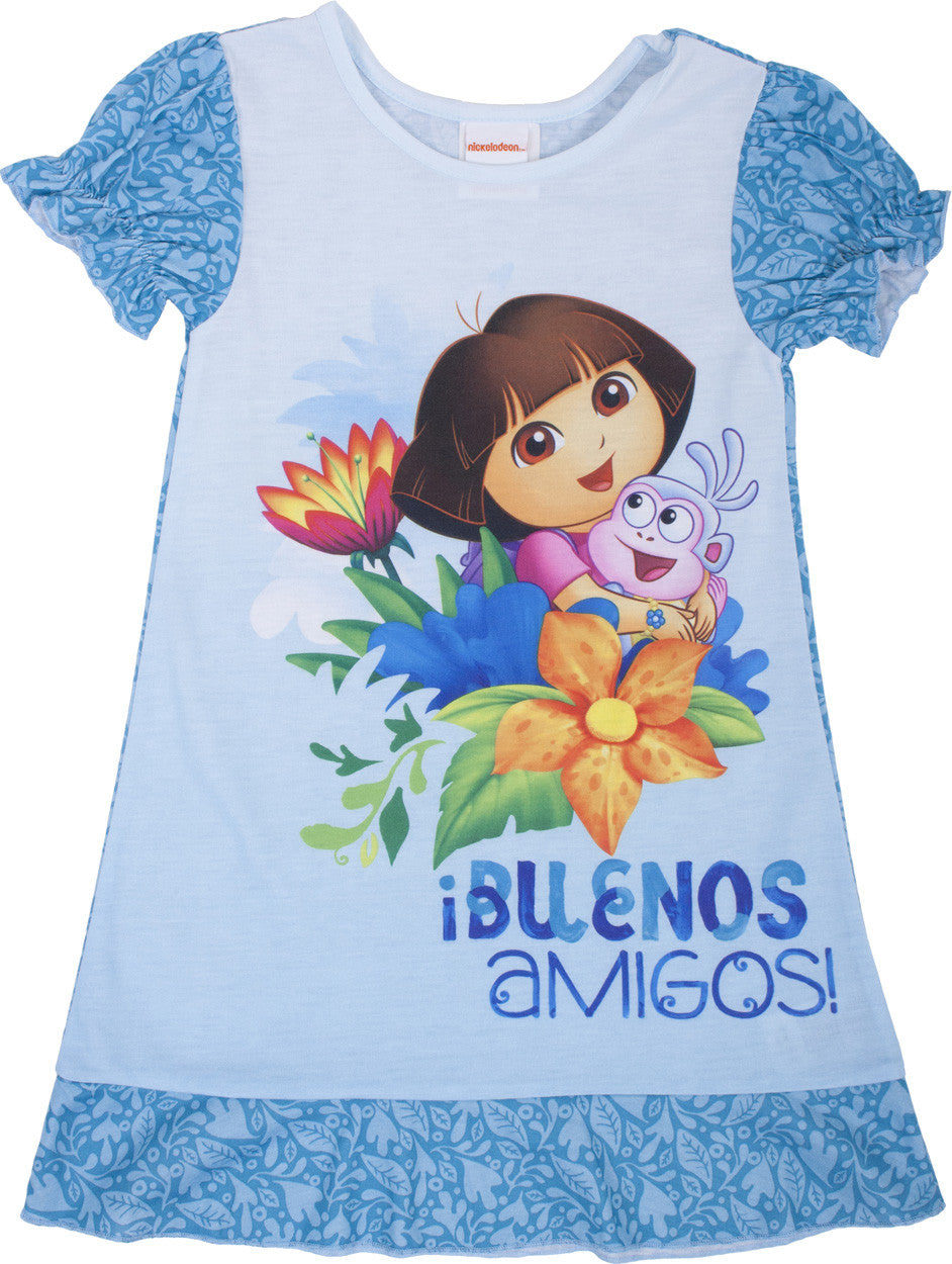 Dora The Explorer Amigos Nightgown - Toddler - nickelodeonstore.co.uk