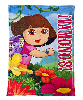 Dora The Explorer Vamanos Plush Blanket
