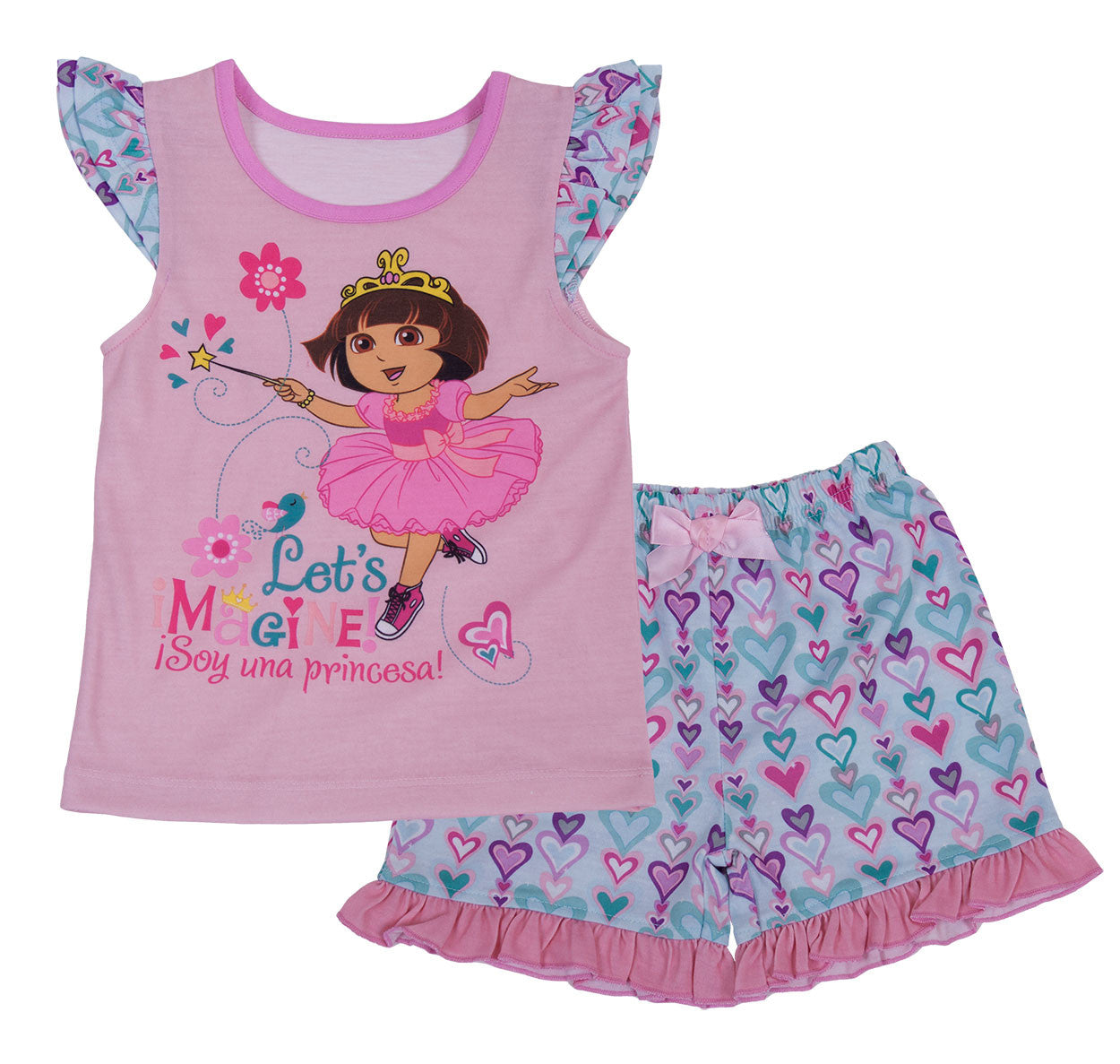 "Dora The Explorer ""Make Believe"" 2pc Short Set - Toddler - nickelodeonstore.co.uk"