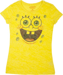 "SpongeBob SquarePants ""Big Face"" Burnout Tee - Ladies - nickelodeonstore.co.uk"