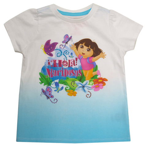 Dora The Explorer  'Hola Mariposas' Butterfly Tee Blue - Toddler