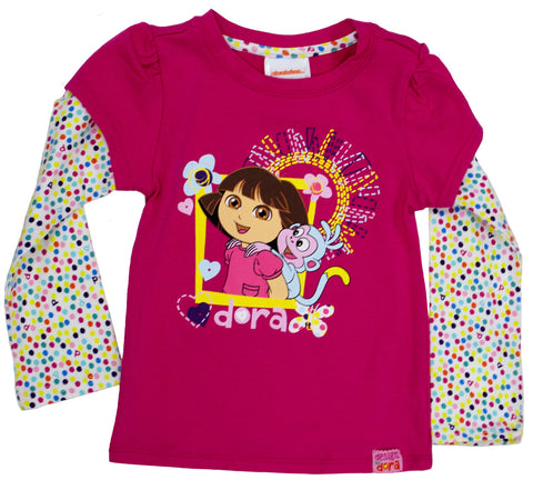 "Dora The Explorer ""Imagination"" Twofer Tee - Toddler"