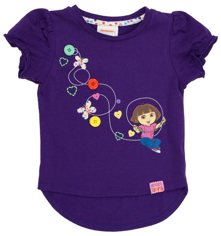 "Dora The Explorer ""Imagination"" High/Low Tee - Toddler"