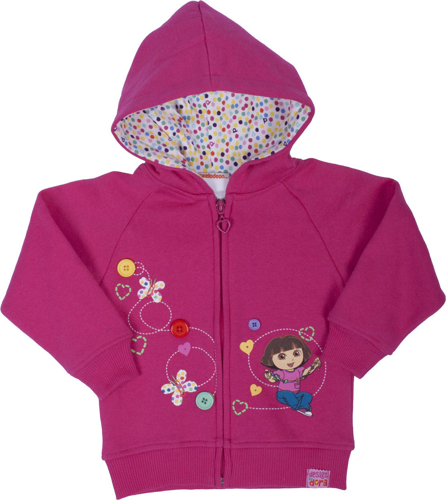 "Dora The Explorer ""Imagination"" Zip Hoodie - Toddler - nickelodeonstore.co.uk"