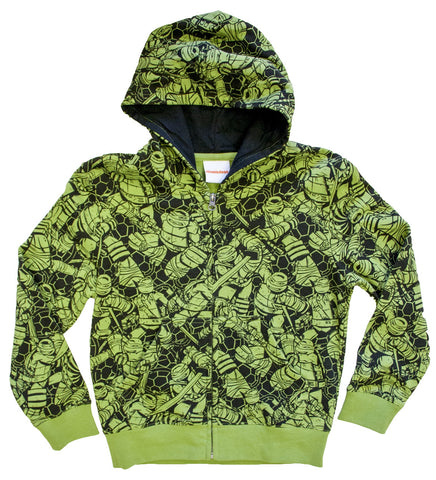Teenage Mutant Ninja Turtles Youth Camo zip hoodie