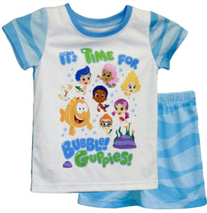 "Bubble Guppies ""Wave"" 2 pc PJ Short Set - Toddler - nickelodeonstore.co.uk"