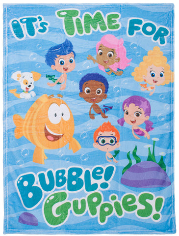 "Bubble Guppies ""Wave"" Plush Blanket"