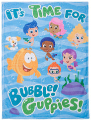 "Bubble Guppies ""Wave"" Plush Blanket - nickelodeonstore.co.uk"