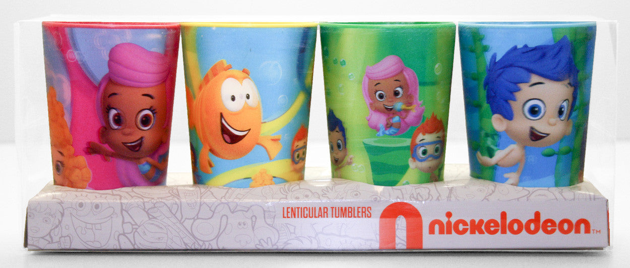 Bubble Guppies 4 Pack Lenticular Tumbler Set - nickelodeonstore.co.uk