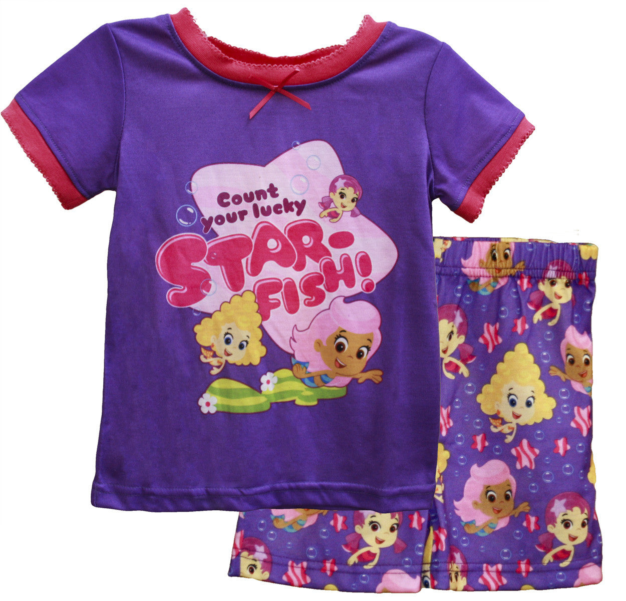 "Bubble Guppies ""Lucky Starfish"" PJ Short Set - Toddler - nickelodeonstore.co.uk"