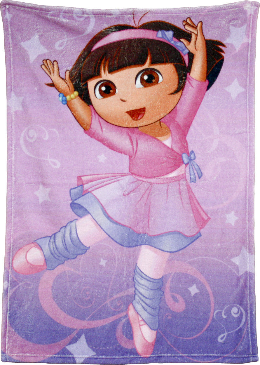 "Dora The Explorer ""Ballet"" Plush Blanket - nickelodeonstore.co.uk"