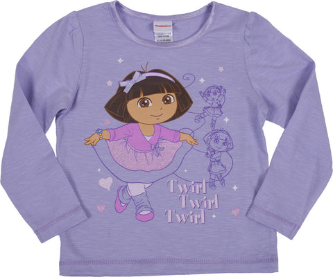 "Dora The Explorer ""Ballet"" Long Sleeve Tee - Toddler"