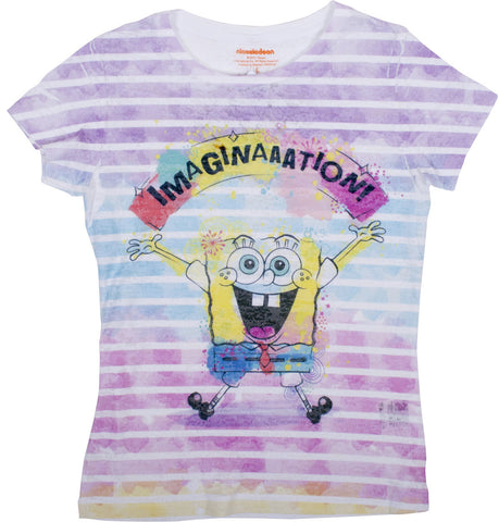 "SpongeBob SquarePants ""Imagination"" Burnout Tee - Tween"