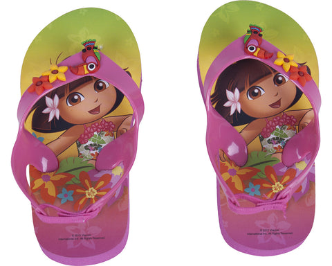 Dora The Explorer Rainforest Flip Flops - Youth