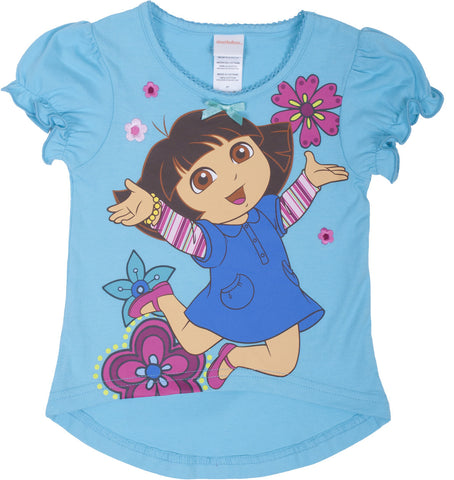 "Dora The Explorer ""Jardin"" Short Sleeve Fashion Top - Toddler"