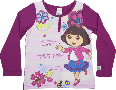 "Dora The Explorer ""Jardin"" Henley Top - Toddler"