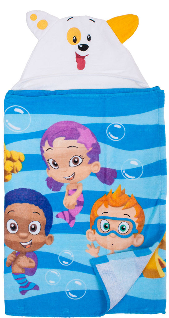 Bubble Guppies Puppy Hooded Towel - nickelodeonstore.co.uk