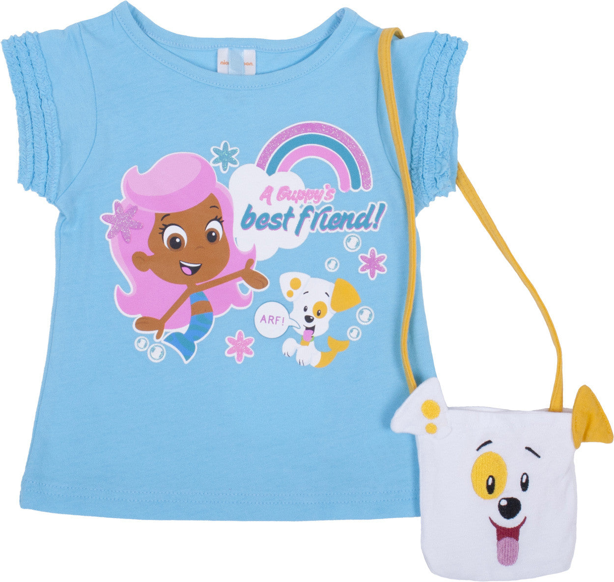 "Bubble Guppies ""Puppy"" Tee with Purse - Toddler - nickelodeonstore.co.uk"