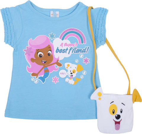 "Bubble Guppies ""Puppy"" Tee with Purse - Toddler"