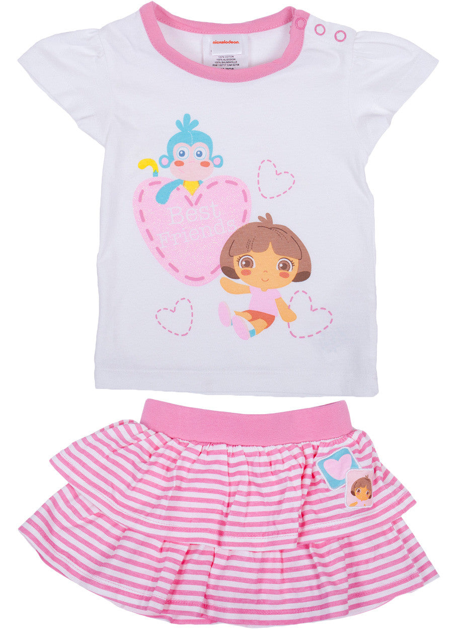 "Dora The Explorer ""Baby Dora"" Tee & Skirt Set - Infant - nickelodeonstore.co.uk"