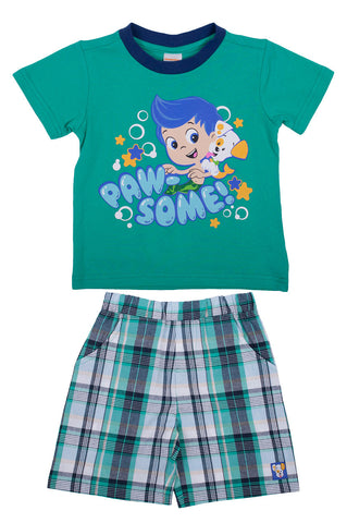 "Bubble Guppies ""Puppy Pawsome"" Tee & Short Set - Toddler"