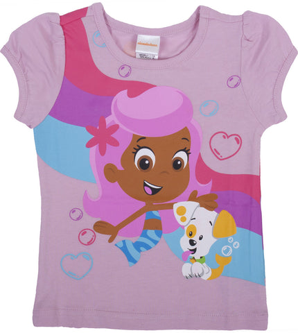 "Bubble Guppies ""Multi Character"" Puff Sleeve Tee - Toddler"