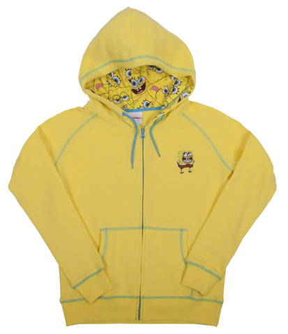 "SpongeBob SquarePants ""Big Face"" Zip Up Hoodie - Juniors"