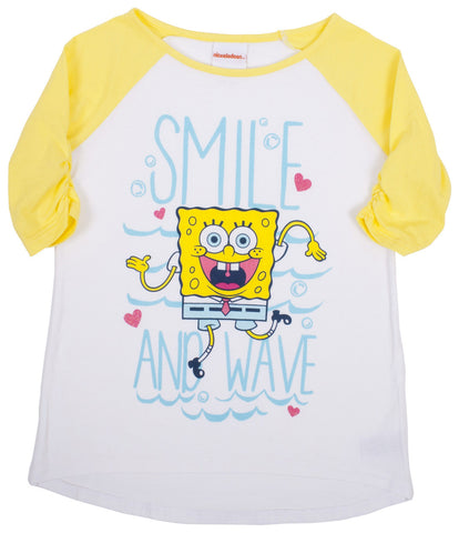 "SpongeBob SquarePants ""Smile N Wave"" Raglan Tee - Tween"