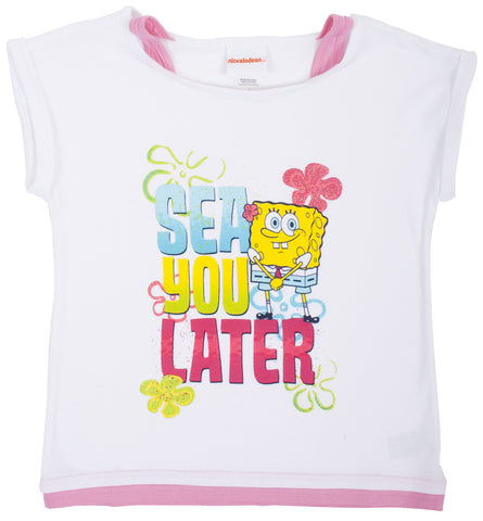 "SpongeBob SquarePants ""Sea Ya"" Faux Tank Tee - Tween"