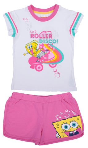 "SpongeBob SquarePants ""Roller"" 2pc PJ Set - Girls"