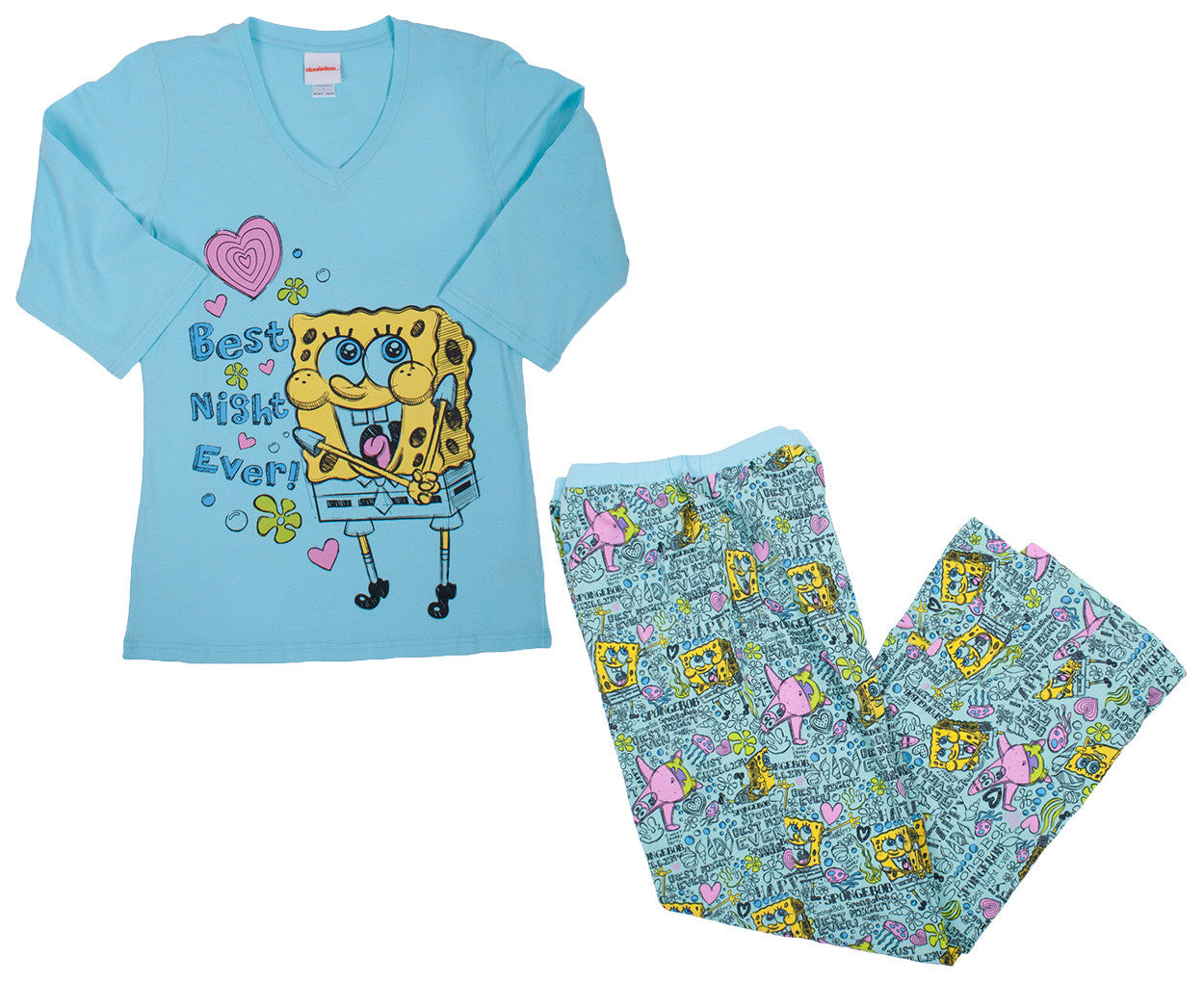 "SpongeBob SquarePants ""Best Night Sleep"" Set - Ladies - nickelodeonstore.co.uk"