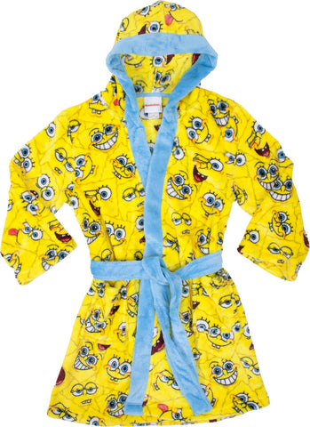 SpongeBob SquarePants Faces Hooded Robe - Youth
