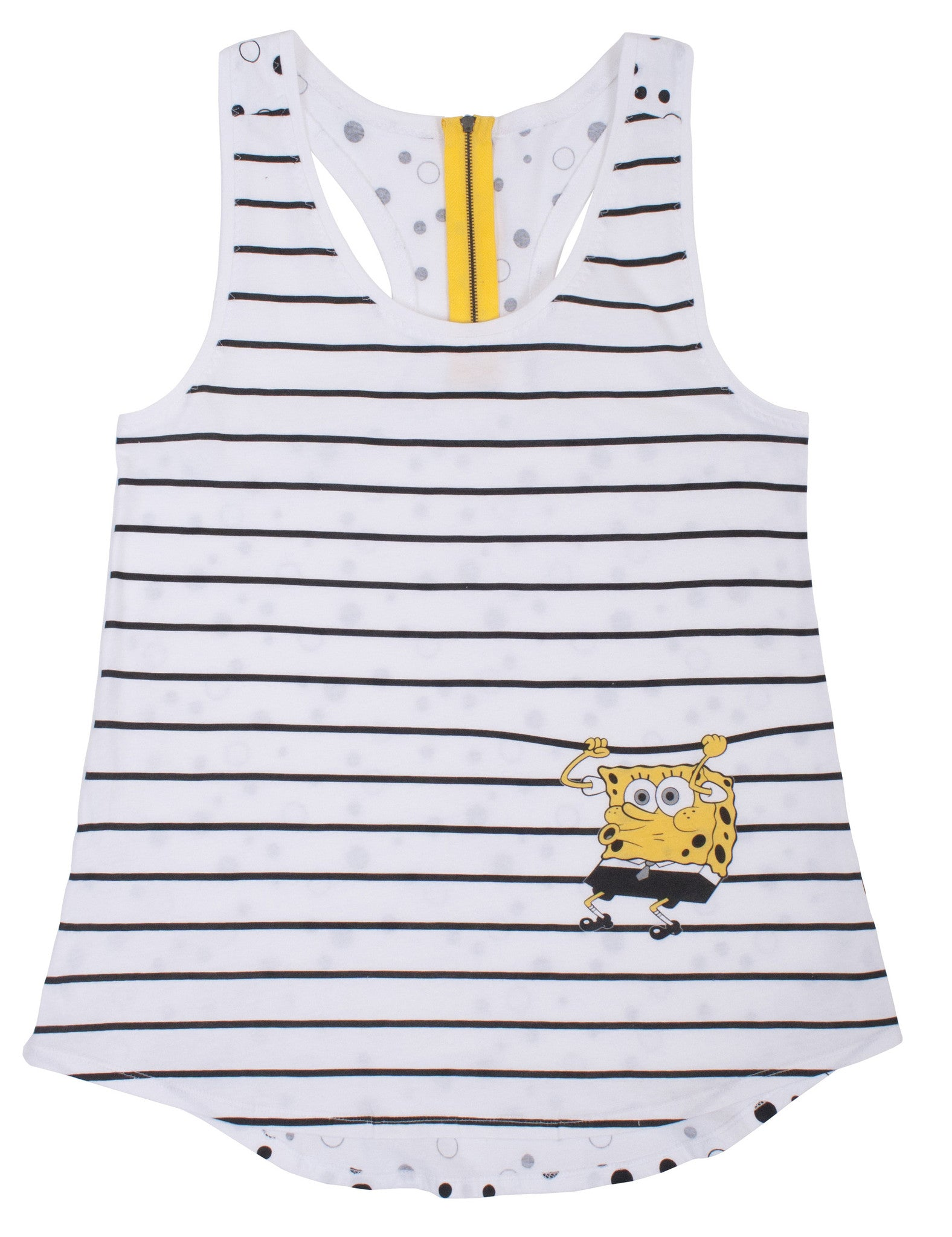 SpongeBob SquarePants Monochrome Bob Zip Tank - Junior