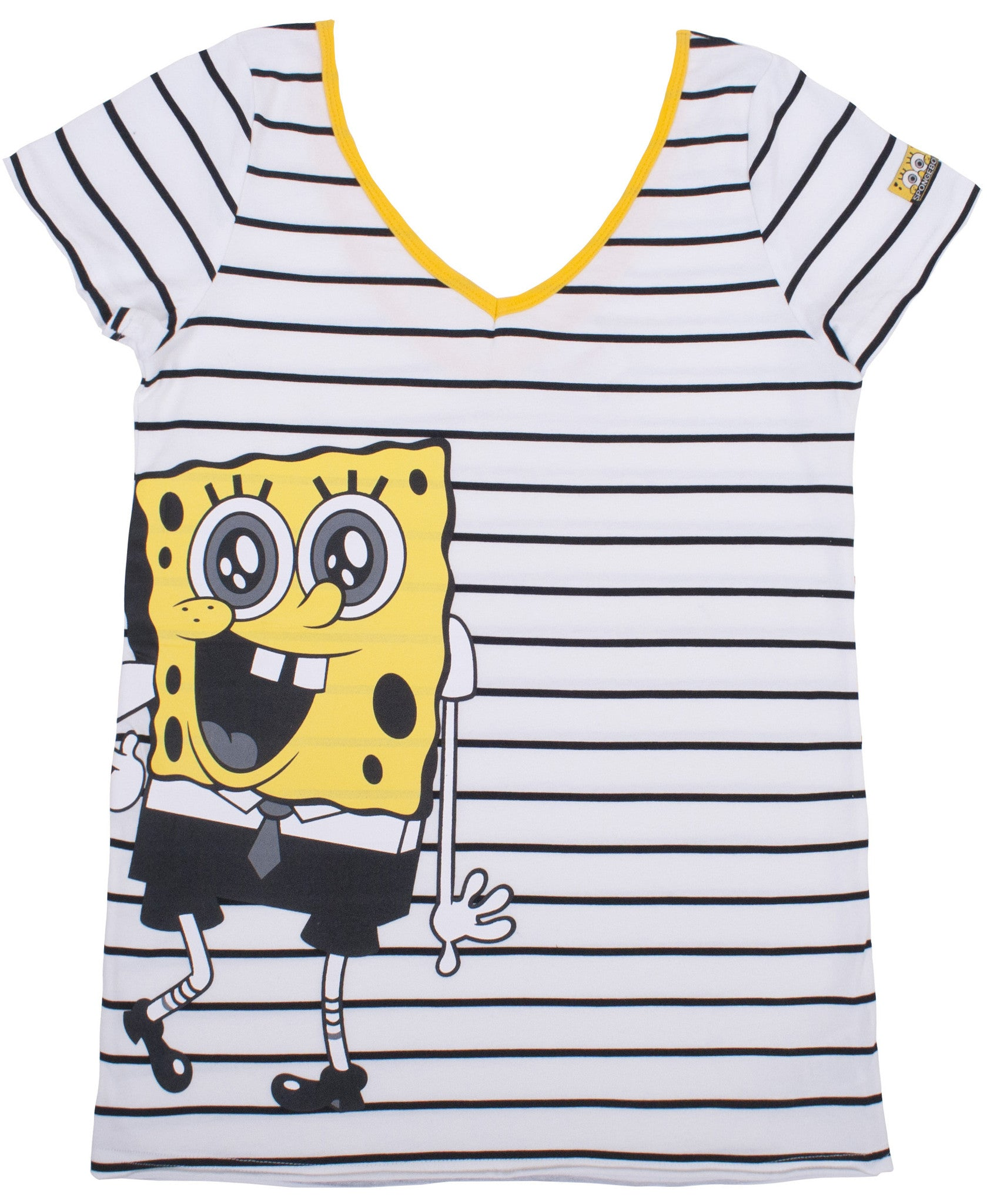 SpongeBob SquarePants Junior Monochrome V-neck Tee