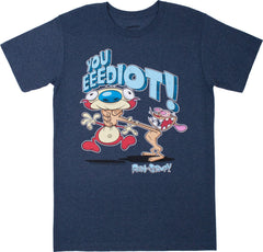 "Ren & Stimpy ""Eeediot"" Tee - Adult - nickelodeonstore.co.uk"