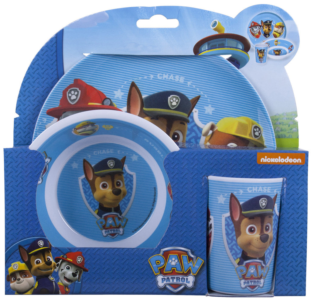 Paw Patrol 3pc Dinner Set - nickelodeonstore.co.uk