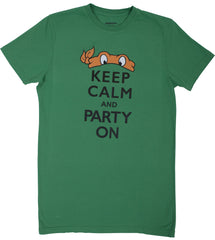 Teenage Mutant Ninja Turtles Mens Keep Calm t-shirt