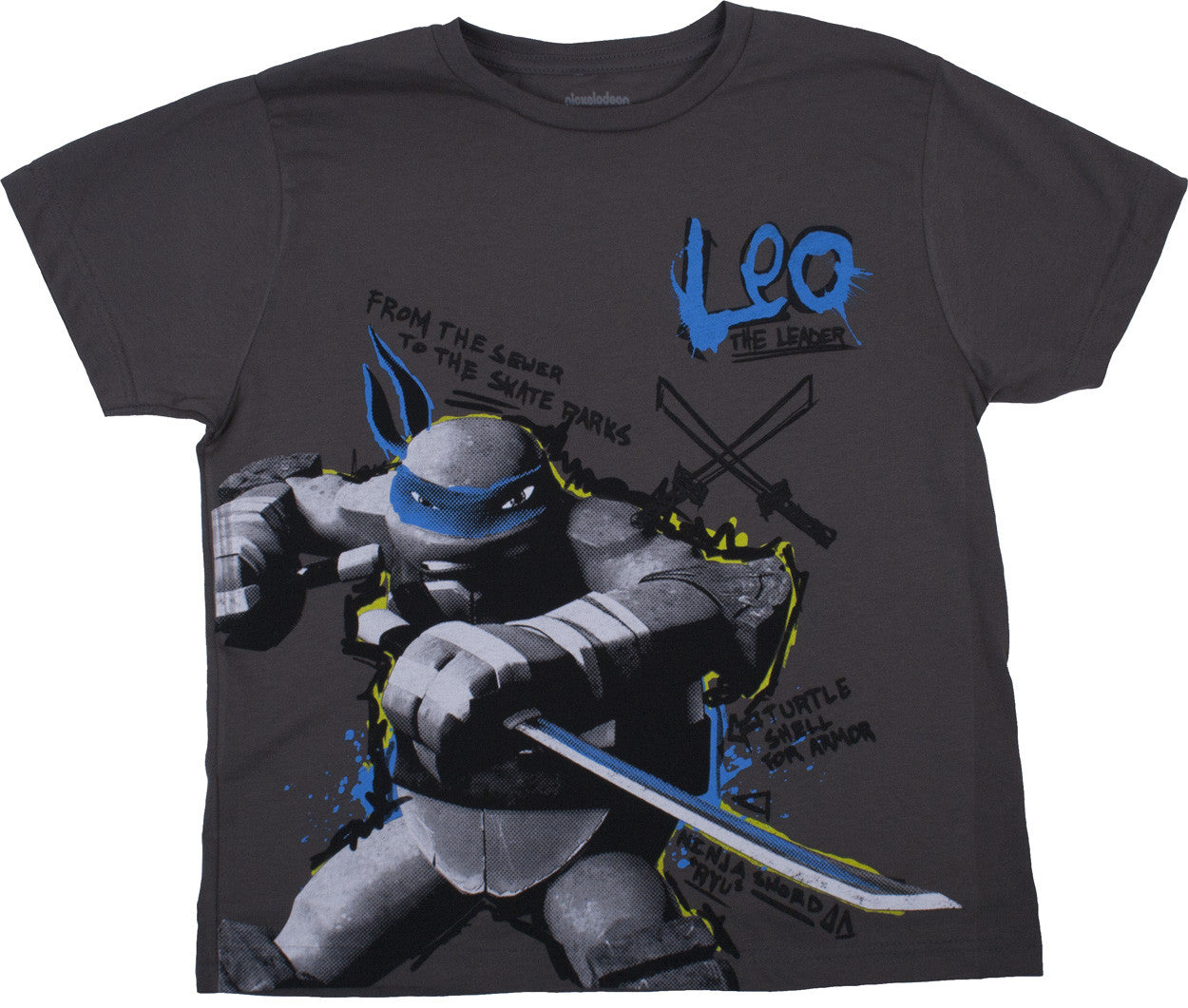 Teenage Mutant Ninja Turtles Leo Charcoal Tee - Youth