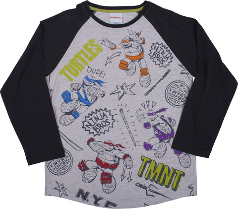 Teenage Mutant Ninja Turtles Brothers Longsleeve Raglan Tee - Youth