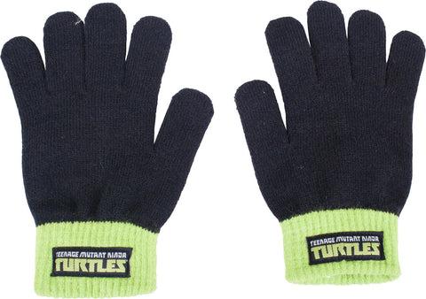 Teenage Mutant Ninja Turtles Shell Pattern Knit Hat & Glove Set - Youth