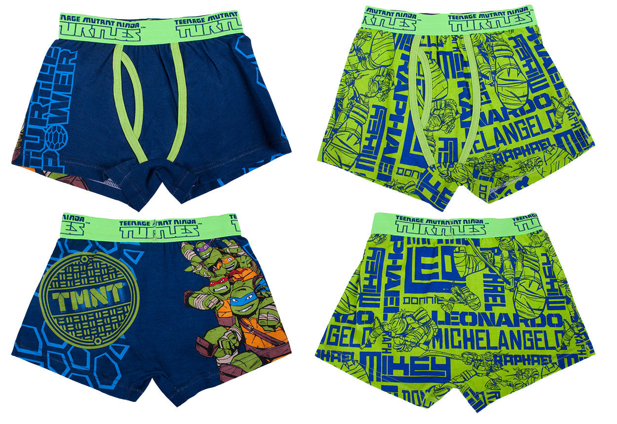 "Teenage Mutant Ninja Turtles ""Turtle Power"" Boxer Briefs 2 pack- Boys"