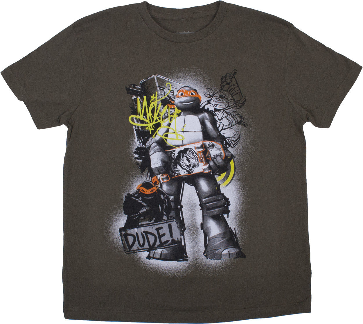 Teenage Mutant Ninja Turtles Mikey Olive Tee - Youth