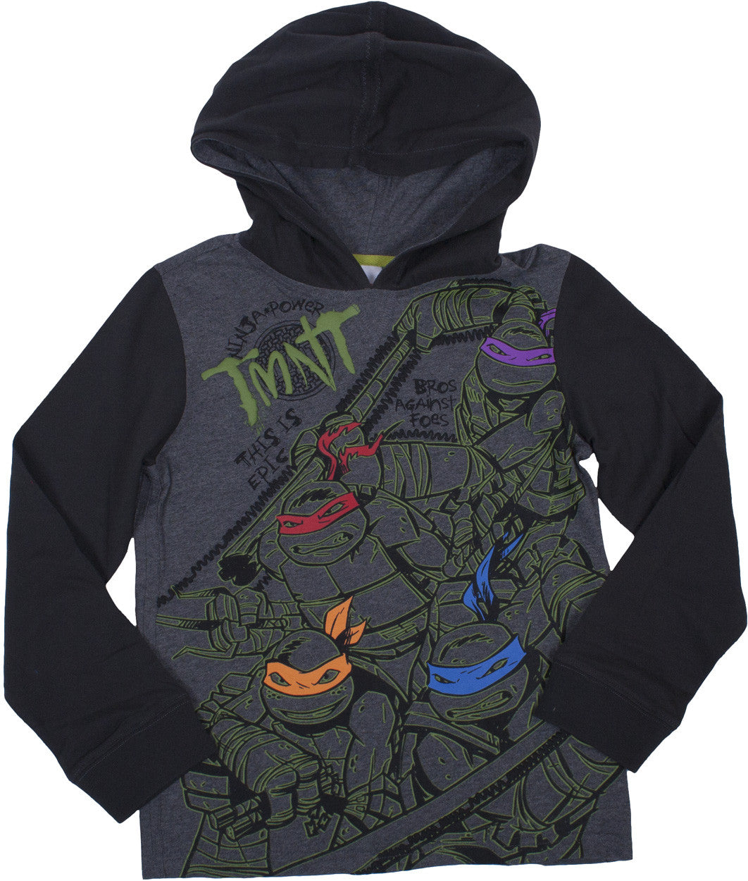 Teenage Mutant Ninja Turtles Longsleeve Hooded Tee - Youth