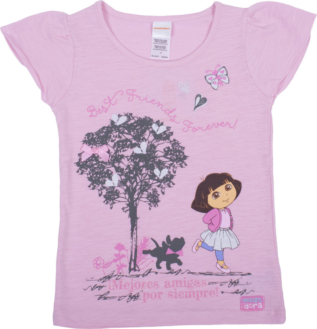 "Dora The Explorer ""Best Friends Forever"" Tee- Toddler - nickelodeonstore.co.uk"