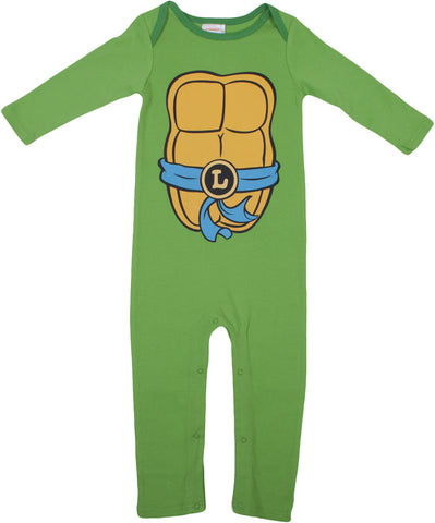 Teenage Mutant Ninja Turtles Leonardo Longsleeve Romper with beanie - Infant