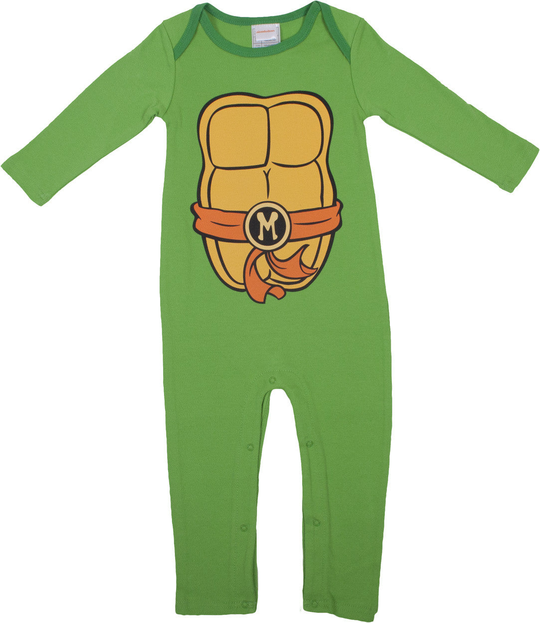 Teenage Mutant Ninja Turtles Mikey Longsleeve Romper with beanie - Infant