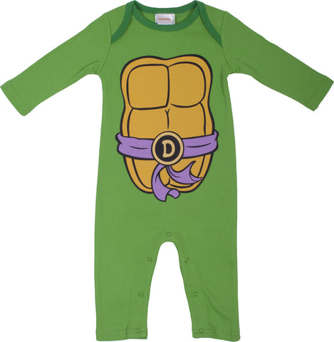 Teenage Mutant Ninja Turtles Donnie Longsleeve Romper with beanie - Infant