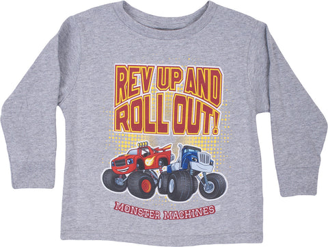 "Blaze ""Rev Up And Roll Out"" Long Sleeve T-shirt - Toddler"