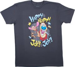 "Ren & Stimpy ""Happy Happy Joy Joy"" Tee - Adult - nickelodeonstore.co.uk"